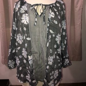 Brand New Fred David Long Sleeve Blouse